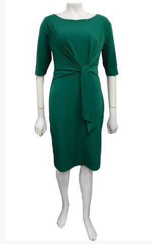 SOLD OUT - GREEN - Louise tie front dress