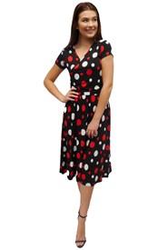 PRINT 614 - Melissa cross front dress
