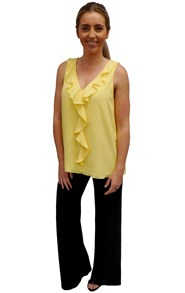 COMING SOON - SUNSHINE - Penny ruffle front singlet