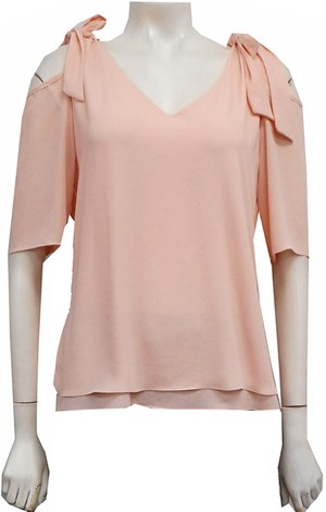 PINK - Annabella tie shoulder top