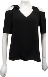 BLACK - Annabella tie shoulder top