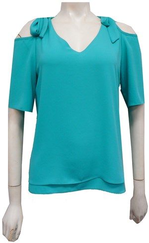 SOLD OUT - GREEN - Annabella tie shoulder top