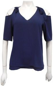 NAVY - Annabella tie shoulder top