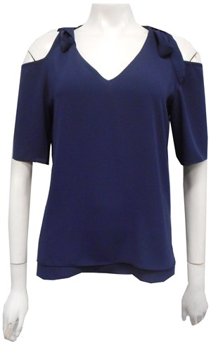 NAVY - Annabella tie shoulder top