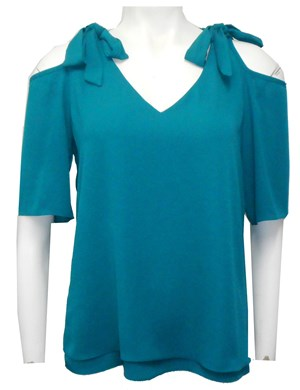 TEAL - Annabella tie shoulder top