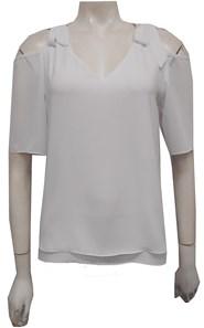 WHITE - Annabella tie shoulder top