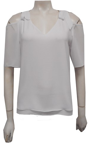 WHITE - Annabella tie shoulder top