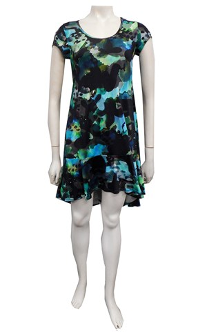 PRINT 596 - Danni high low flip dress