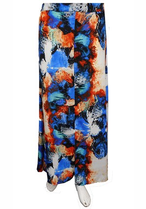 BLUE - Shannon rayon skirt with splits