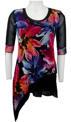 LIMITED STOCK - PRINT 62 - Alexa mesh top