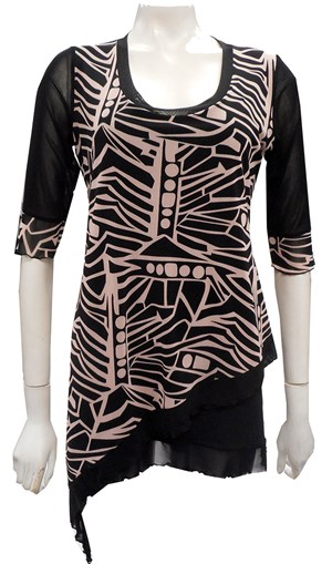 LIMITED STOCK  - PRINT 50 - Alexa mesh top