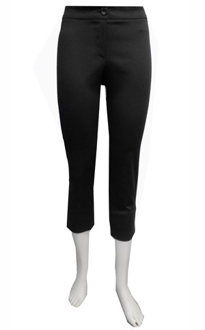 BLACK - Cropped capri pants