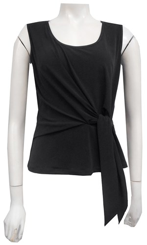 BLACK - Chanel tie front top