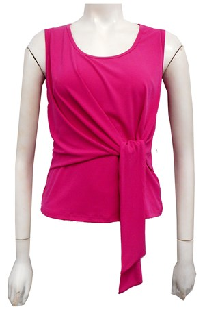 HOT PINK - Chanel tie front top