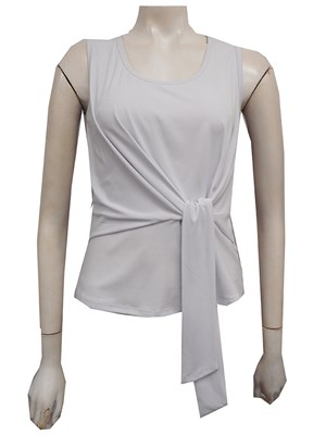 WHITE - Chanel tie front top