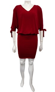 RED - Ruth batwing tie dress
