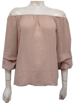 DUSTY PINK - Ellen bubble sleeve top