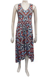 AZTEC - Hayley drape front dress