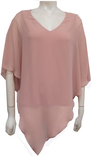 LIMITED STOCK - BLUSH - Belinda double layer angle top