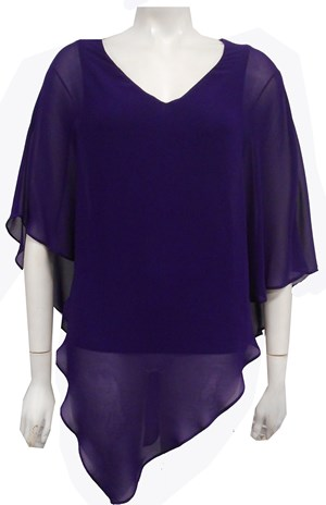 GRAPE - Belinda double layer angle top