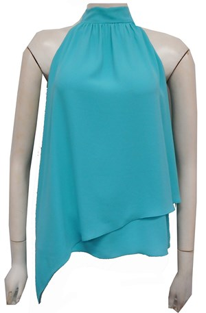 AQUA - Alana Chiffon high neck top
