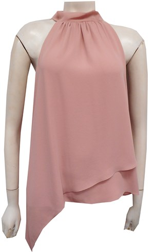 BLUSH - Alana Chiffon high neck top