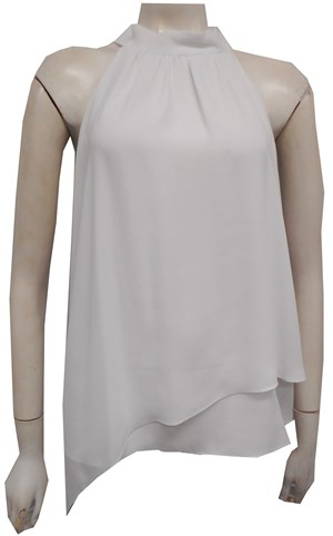 WHITE - Alana high neck top