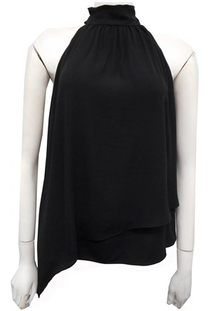 COMING SOON - BLACK - Alana high neck top