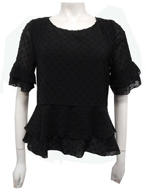 LIMITED STOCK - BLACK - Jodie layered top