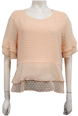 Jodie Dobby Chiffon Layered Top - Shell