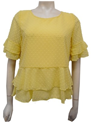 Jodie Dobby Chiffon Layered Top - Sunshine