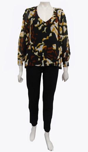 COMING SOON IN GREEN PRINT - Melanie print blouse