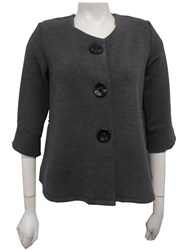 CHARCOAL/BLK - Emma jacket