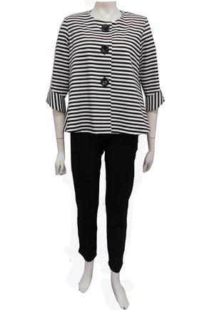 LIMITED STOCK - WHITE - Emma stripe jacket