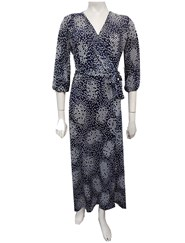 NAVY - Jade print maxi dress