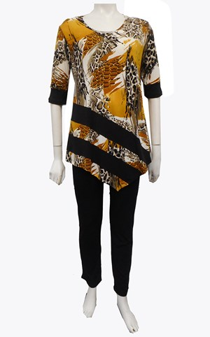 Katrina Soft Knit Contrast Tunic