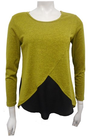 GREEN - Caroline 2 tone knit top