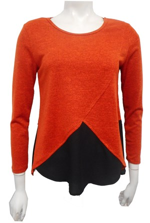 RUST - Caroline 2 tone knit top