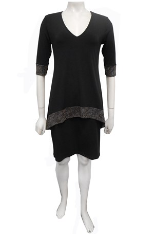 COMING SOON - Sienna soft knit trim dress