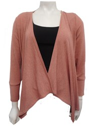 PINK - Woolly knit waterfall jacket