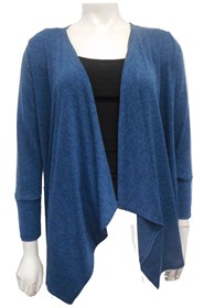 TEAL - Woolly knit watWoolly knit waterfall jacket erfall jacket