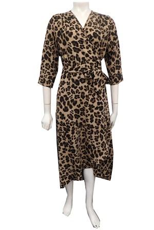 LIMITED STOCK - ANIMAL - Kay hi lo wrap dress
