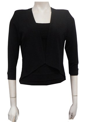 BLACK - Teagan shrug