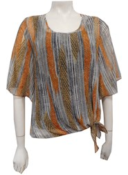 Beth Light Weight Chiffon Top with Tie