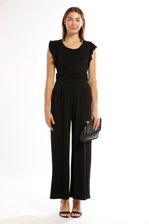 Taylor Soft Knit Jumpsuit - Black