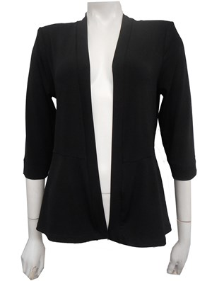 BLACK - Soft knit shrug