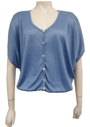 Bianca Lightweight Knit Top - Blue