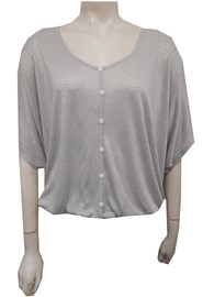 Bianca Lightweight Knit Top - Silver