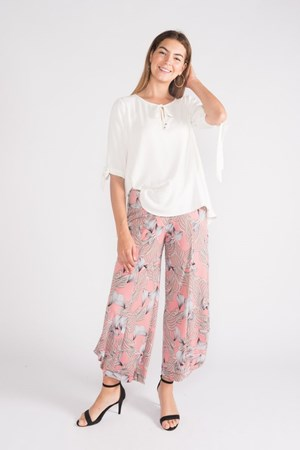 Kate Soft Knit Balloon Hem Pant -Pink