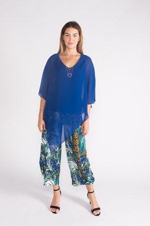 Kate Soft Knit Balloon Hem Pant -Turquoise